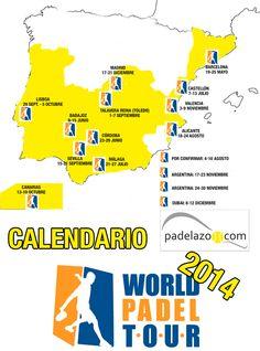 Calendario World Padel Tour 2014. Primer análisis de la programación del circuito profesional de padel para la temporada 2014.