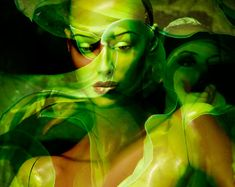 Fine Art Fashion Photography Collage Mannequin Photo Green Lime GREEN WINGS via Etsy