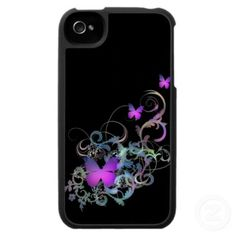 Sold!  Bright Purple Butterfly iPhone 4 Covers $44.95