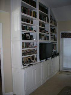 Builtin Bookcases Wansley Woodworks Llc