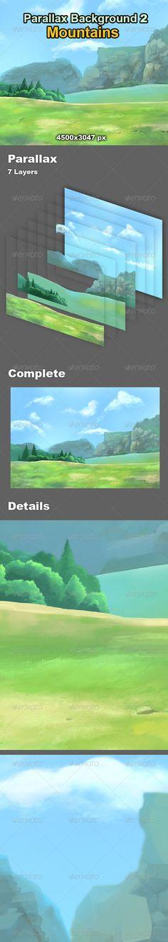 Parallax+Background+2+-+Mountains