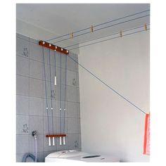 Varal Secamais - otimo para rebaixamento de gesso pois prende em duas paredes opostas e não no teto.