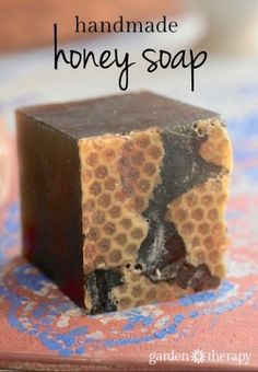 this luxurous honey soap recipe is incrediby healing for your skin