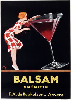 Balsam Apertif Vintage French Poster - Just Vintage French Posters, Vintage Advertising Posters, Vintage Advertisements, Vintage Prints, French Vintage, Vintage Designs, Vintage Photos, Vw Vintage, Vintage Wine