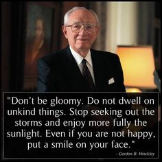 Wise words from my favorite prophet.