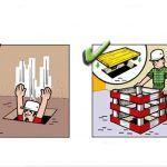Yanlış ve Doğruları ile İnşaatta İş Güvenliği | İnşaat Gündemi Safety Cartoon, Safety Posters, Atvs, Signs, Shop Signs, Sign, Dune Buggies, Atv