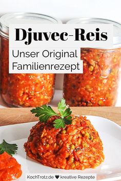 Original Djuvec-Reis - Famous Last Words Healthy Foods To Eat, Healthy Recipes, Rice Recipes For Dinner, Different Recipes, Eating Plans, Tandoori Chicken, Family Meals, Salad Recipes, Meal Planning