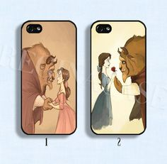 Disney+phone+case+Belle+and+beast+phone+case+Beauty+by+ReginaCase,+$9.99