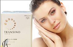 Viên uống Nhật Transino whitening giúp phụ nữ duy trì làn da trắng sáng không tỳ vết, chứa một thành phần chính đó là trannexamic acid rất hiệu quả trong việc trị nám, tàn nhang và chàm. So với sản phẩm trị nám trước đây của công ty mà Vitamin C là thành phần chủ yếu thì Transino hiệu quả hơn rất hiều. Ngoài ra, vỏ bọc của viên còn có tác dụng giảm kalo, chống béo phì.