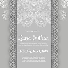 Nice classic style wedding invitation Free Vector Wedding