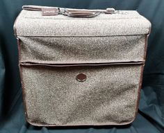 FREE SHIPPING! Vintage Amelia Earhart Suitcase Tweed Leather Trim Luggage Brown | Travel, Luggage | eBay!