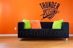 Amazing Removable Oklahoma City Thunder Team Wall Art Decor By Signs4Half, $25.00  Thunder Team, Oklahoma