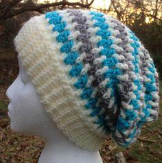 Adult Unisex Slouchy Mesh Hat Beanie Skullcap by LuvvLeighKnitNCro, $30.00