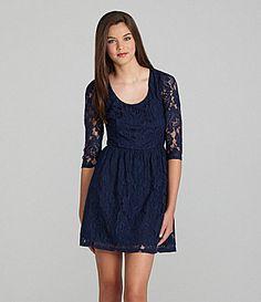As U Wish Lace Zip Back Dress #Dillards