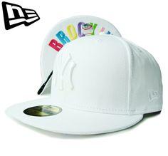 """【ニューエラ】【NEW ERA】59FIFTY NEW YORK YANKEES """"NY"""" ホワイトxマルチカラー アンダーバイザー【CAP】【newera】【ニューヨーク・ヤンキース】【帽子】【multi color】【under visor】【オールホワイト】【白】【WHITE】【キャップ】【あす楽】【楽天市場】"""