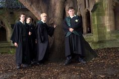 HARRY POTTER AND THE GOBLET OF FIRE, Joshua Herdman, Tom Felton, Jamie Waylett, 2005, (c) Warner Brothers /