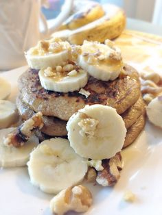 Banana Bread Protein Pancakes   Gluten-free, high in fiber, protein and heart-healthy fat