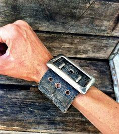 Vintage Leather Cuff Bracelets
