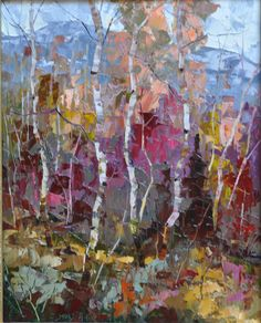 Purple Forest, 20 x 16, Oil on Canvas by Dean Bradshaw for a Scottsdale art gallery
