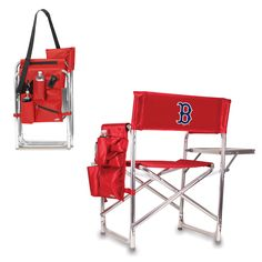 Boston Red Sox Sports Chair With Fold Out Table by Picnic Time
