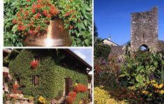 Yvoire, un des plus beaux village de France, village fleuri