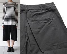 ALEXANDER WANG:wide leg shorts(black)- CUL DE PARIS online store