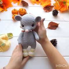 p/crochet-mouse-pattern-amigurumi-animal-pattern-cute-mouse-etsy - The world's most private search engine Crochet Animal Patterns, Crochet Patterns Amigurumi, Amigurumi Doll, Crochet Animals, Crochet Dolls, Crocheted Toys, Amigurumi Tutorial, Tutorial Crochet, Crochet Lion