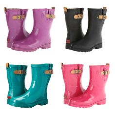 Women's Chooka Top Solid Mid Rain Boot in gorgeous colors.