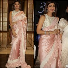 Looking for modern saree designs and ideas? Here are 18 amazing saree and blouse models that are sure to steal your heart. Saree Blouse Models, Saree Blouse Designs, Sleevless Saree Blouse, Sari Blouse, Saree Gown, Satin Saree, Lehenga, Indian Beauty Saree, Indian Sarees