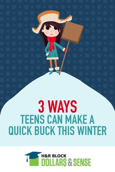 If your teen is using their own money to buy holiday gifts this year, let them know of these three ways to earn some extra money this winter.