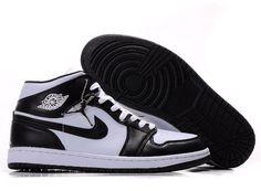 a622e17b809006 Men Nike Air Jordan 1 Black White Retro In Stock http   www.