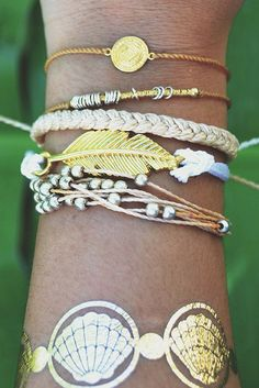 Bohemian Stacked Bracelets // Pura Vida made in Costa Rica