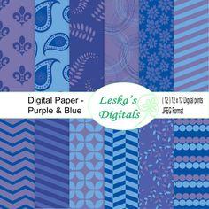 Digital paper digital scrapbook paper pack Instant by DigitalWork, $3.00