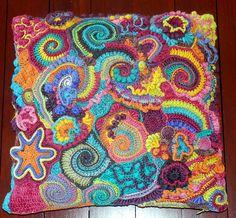 Ravelry: mbcrochet's Multi-colour Swirl Free form Pillow