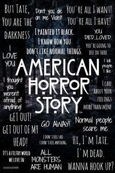 American Horror AHS Season 1 Murderhouse Murder House wallpaper iPhone iPad back Evan Peters, American Horror Story Quotes, American Horror Story Seasons, Ahs Season 1, Tate And Violet, Film Serie, Wallpaper Quotes, Wallpaper Ideas, Cat Wallpaper