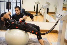 Con electrofitness potencializas los efectos del trabajo regular de abdomen.