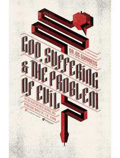 God, suffereing & the problem of evil - typography