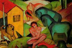Franz Marc 1880-1916 | Espressionista tedesco | The Blue Rider Groups | Tutt'Art@