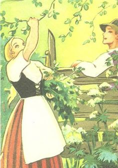 Martta Wendelin was a Finnish artist whose work was widely used to illustrate fairy tales and books, postcards, school books, magazine and book covers. Vintage Christmas Cards, Christmas Art, Vintage Cards, Pictures To Draw, Cute Pictures, Pretty Drawings, Children's Book Illustration, Martini, Illustrations Posters