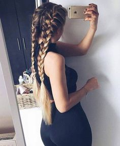 Imagen de hair, braid, and iphone