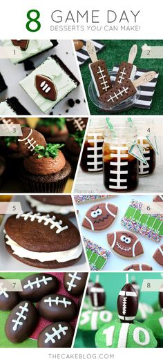 Football Game Day Desserts that you can make at home - perfect for Super Bowl pa. - Football Game Day Desserts that you can make at home – perfect for Super Bowl parties! Football Treats, Football Food, Football Desserts, Football Recipes, Party Desserts, Dessert Recipes, Super Bowl, Tailgate Food, Tailgating