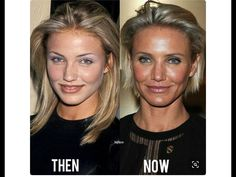 Cameron Diaz - then in her mid & now in her mid still gorgeous Cameron Diaz, Makeup Tips, Beauty Makeup, Hair Makeup, Hair Beauty, Facelift Before And After, Bad Plastic Surgeries, Celebs Without Makeup, Eyeliner For Hooded Eyes