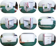 3frangines: DIY : Recyclez vos box beauté! Diy Organisation, How To Make Box, Diy Desk, Diy Box, Little Boxes, Beauty Box, Office Desk, Diy And Crafts, Packaging
