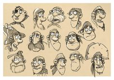 Aardman Animations concept art  Pirate Faces