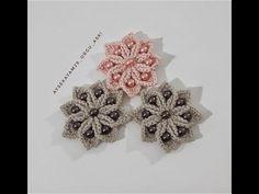 Dangly Earrings, Etsy Earrings, Cartilage Hoop, Creative Embroidery, Crochet Videos, Crochet Accessories, Beading Tutorials, Crochet Flowers, Silver Color