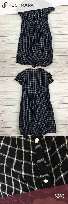 """Zara trafaluc plaid flannel button front romper Great condition. 15"""" armpit to armpit and 33"""" long. Inseam 3"""" Zara Pants Jumpsuits & Rompers"""