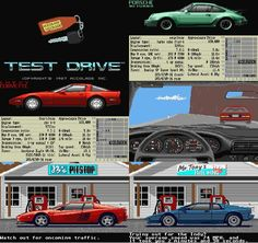 First introduction to Porsche through Test Drive for IBM pc game 1987, I was 9 years old :D
