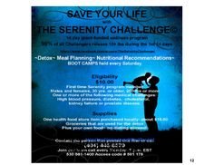 Now in month 8 , The SERENITY CHALLENGE grant-funded, nationwide initiative continues  https://www.facebook.com/groups/TheSerenityChallenge/