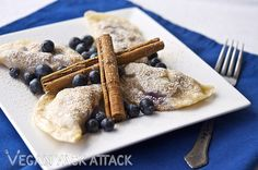 Blueberry Yoghurt Pierogi!  http://veganyackattack.com/2012/04/04/berrylove-blueberry-yogurt-pierogi/