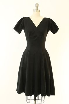 50s Anne Fogarty XS / 1950s Empire Dress / Son by CrushVintage